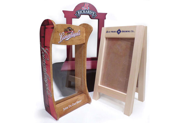 PROMOTIONS CM Global - Wooden table tents